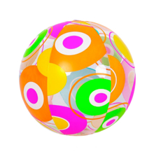 Globo ფერადი ზღვის ბურთი Colorful Beach Ball