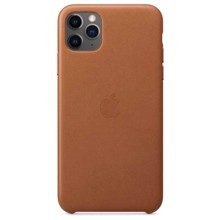 Apple Leather Case for iPhone 11 Pro Max Saddle Brown ქეისი