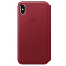 Apple Leather Folio for iPhone XS Max (PRODUCT) RED ქეისი