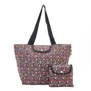 Eco Chic Black Ditsy Large Cool Bag - ჩანთა