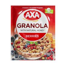 AXA ხრაშუნა მიუსლი თაფლით და კენკრით 40 გრ