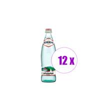 12 ბოთლი მინერალური წყალი ბორჯომი  0.5ლ შუშა