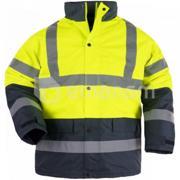 Coverguard ქურთუკი შუქამრეკლით Coverguard Roadway 7ROAY XXL ყვითელი/მუქი ლურჯი