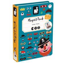 Janod BOY'S CRAZY FACES MAGNETI'BOOK მაგნიტური წიგნი