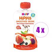 4 ცალი Hipp პიურე ვაშლით ბანანითა და წითელი ხილით (1 წლიდან)