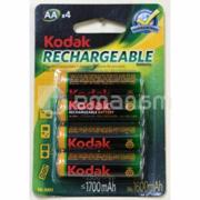 დასატენი ელემენტი Kodak AA 1700mAh 4 ცალი