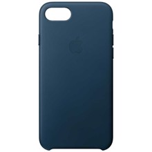 Apple Leather Case for iPhone 8/7 Cosmos Blue ქეისი