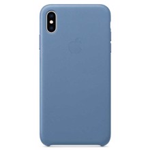 Apple Leather Case for iPhone XS Max Cornflower ქეისი