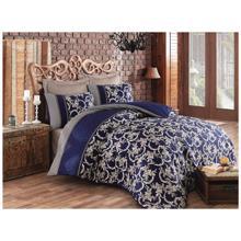 Cozy Home ორსაწოლიანი სატინის თეთრეულის კომპლექტი Pera Dark Blue