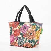 Eco Chic Beige Peonies Lunch Bag - ჩანთა