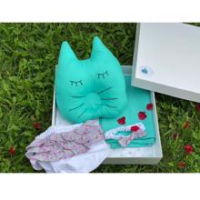 Handicraft Baby Box სასაჩუქრე ნაკრები - მენთოლისფერი ტრუსით