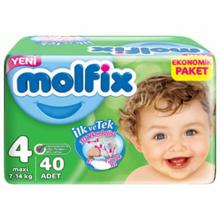 Molfix ბავშვის საფენი N4 #40