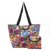 Eco Chic Green Peonies Large Cool Bag - ჩანთა