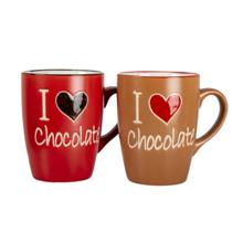 ჩაის ჭიქა 2 ცალი I love Chocolate