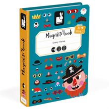 Janod Magnetic book სახალისო სახეები