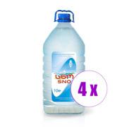 4 ბოთლი სასმელი წყალი წყალი სნო 10 ლ პეტი