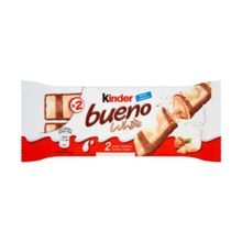 Kinder თეთრი შოკოლადის ბატონი Bueno T2 39 გრ