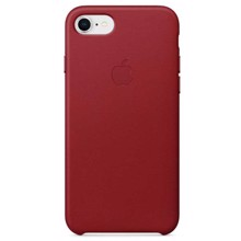 Apple Leather Case for iPhone 8/7 Red ქეისი