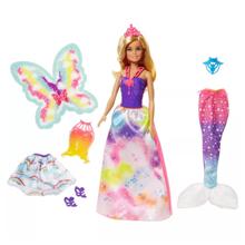 Mattel Barbie პრინცესა ზღაპრული კოსტიუმებით