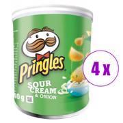 4 შეკვრა ჩიფსი Pringles არაჟნით და ხახვით 40გრ