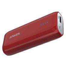 ANKER A1211095 5200mAh Red პორტატული დამტენი