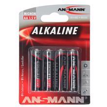 ANSMANN ელემენტების 4 ცალიანი შეკვრა Alkaline-red-1.5V-AA-bl4