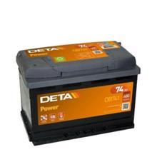 DETA  აკუმულატორი Power DB740 74Ah/680A 12V DIN