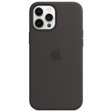 Apple iPhone 12 Pro Max Silicone Case with MagSafe Black ქეისი
