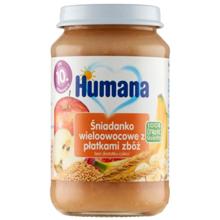 Humana ხილის პიურე მარცვლეულით 190 გრ