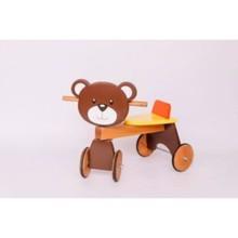 ხის ველოსიპედი დათვი