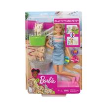 MATTEL Barbie შინაური ცხოველების აბაზანით
