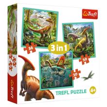 "TREFL ""3 in 1"" - The extraordinary world of dinosaur ფაზლი"