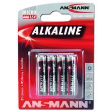 ANSMANN ელემენტების 4 ცალიანი შეკვრა Alkaline-red-1.5V-AAA-bl4