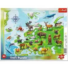 TREFL ფაზლი Map of Europe Animals