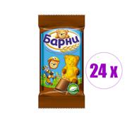 24 ცალი ორცხობილა შოკოლადის შიგთავსით  Барни 30გრ