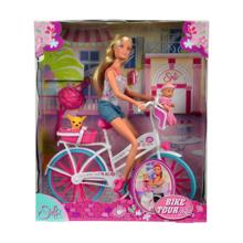 SIMBA თოჯინა ველოსიპედით, პატარა თოჯინით და ძაღლით