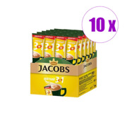 10 ცალი  ყავა ხსნადი ერთჯერადი 3/1 ლატე Jacoba Monarch 3 გრ