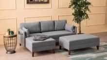 Cozy Home კუთხის დივანი პუფით Comfort Corner Sofa Bed Left PRE-ORDER