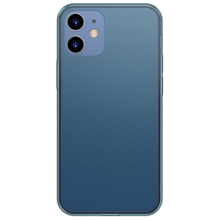 Baseus Frosted Glass Protective Case For iPhone 12 Mini Blue ქეისი
