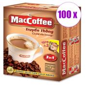 1 შეკვრა ყავა ხსნადი ორიგინალი 3/1 MacCoffee 100 ცალი