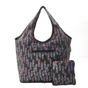 Eco Chic Black Feather Weekend Bag - ჩანთა