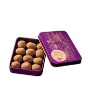 Chocolate Amatller ნუში შოკოლადით. მეტალის ყუთი