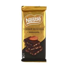 Nestle შავი შოკოლადის ფილა ნუშით 90 გრ