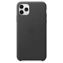 Apple Leather Case for iPhone 11 Pro Max Black ქეისი