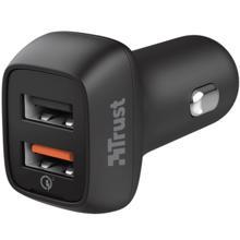 TRUST QMAX USB A+A CAR CHARGER QC3 30W ავტომობილის დამტენი