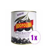 1 ქილა შავი ზეთისხილი A10 Coopoliva