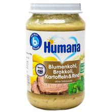 Humana პიურე ყვავილოვანი კომბოსტოთი, კარტოფილით და ხორცით 190 გრ