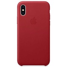 Apple Leather Case for iPhone XS Max (PRODUCT) RED ქეისი