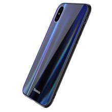 Baseus WIAPIPHX-XC01 for iphone X Black/Blue ქეისი