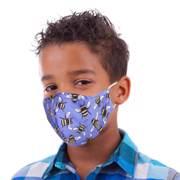 Eco Chic Blue Bee Reusable Face Cover Mini - საბავშვო პირბადე
